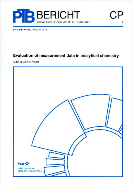 Evaluation of measurement data in analytical chemistry