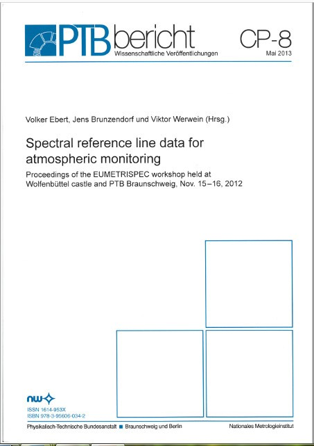 Spectral reference line data for atmosperic monitoring