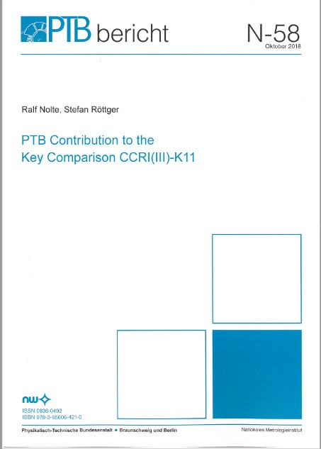 PTB Contribution to the Key Comparison CCRI (III)-K11