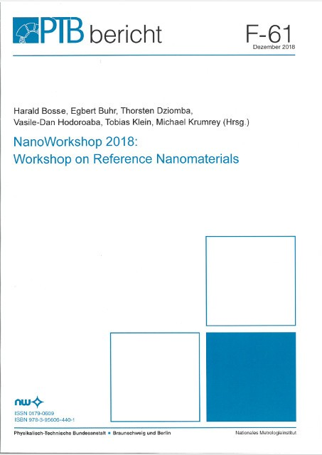NanoWorkshop 2018: Workshop on Reference Nanomaterials