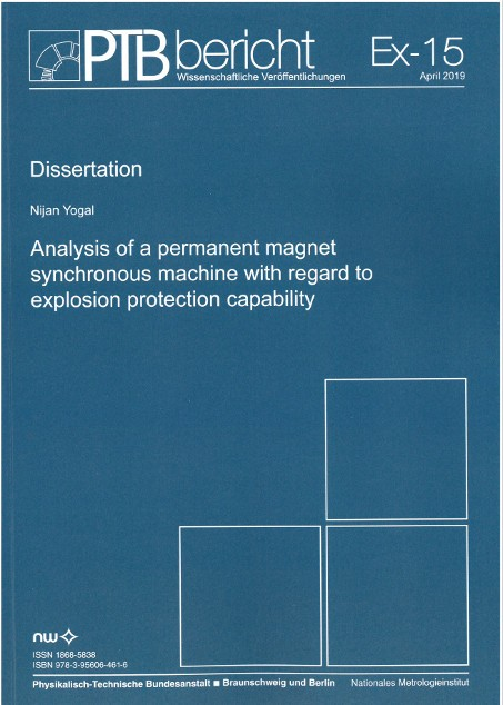 Analysis of a permanent magnet synchronous machine with regard to explosion protection capability
