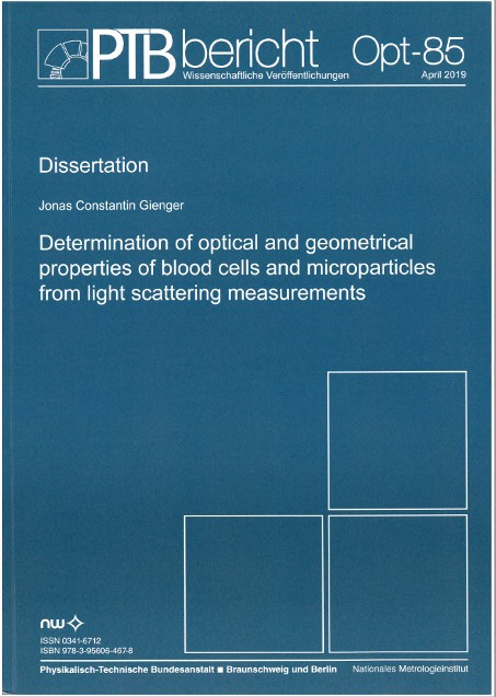 Determination of optical and geometrical properties of blood cells and microparticles from light scattering measurements