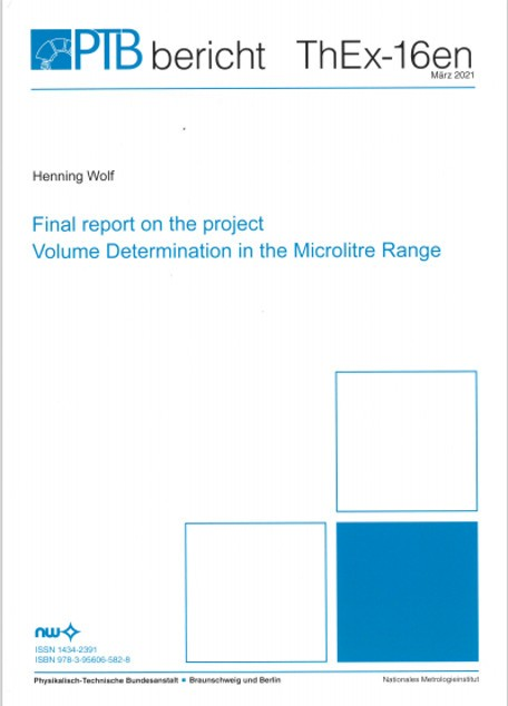 Final report on the project Volume Determination in the Microlitre Range