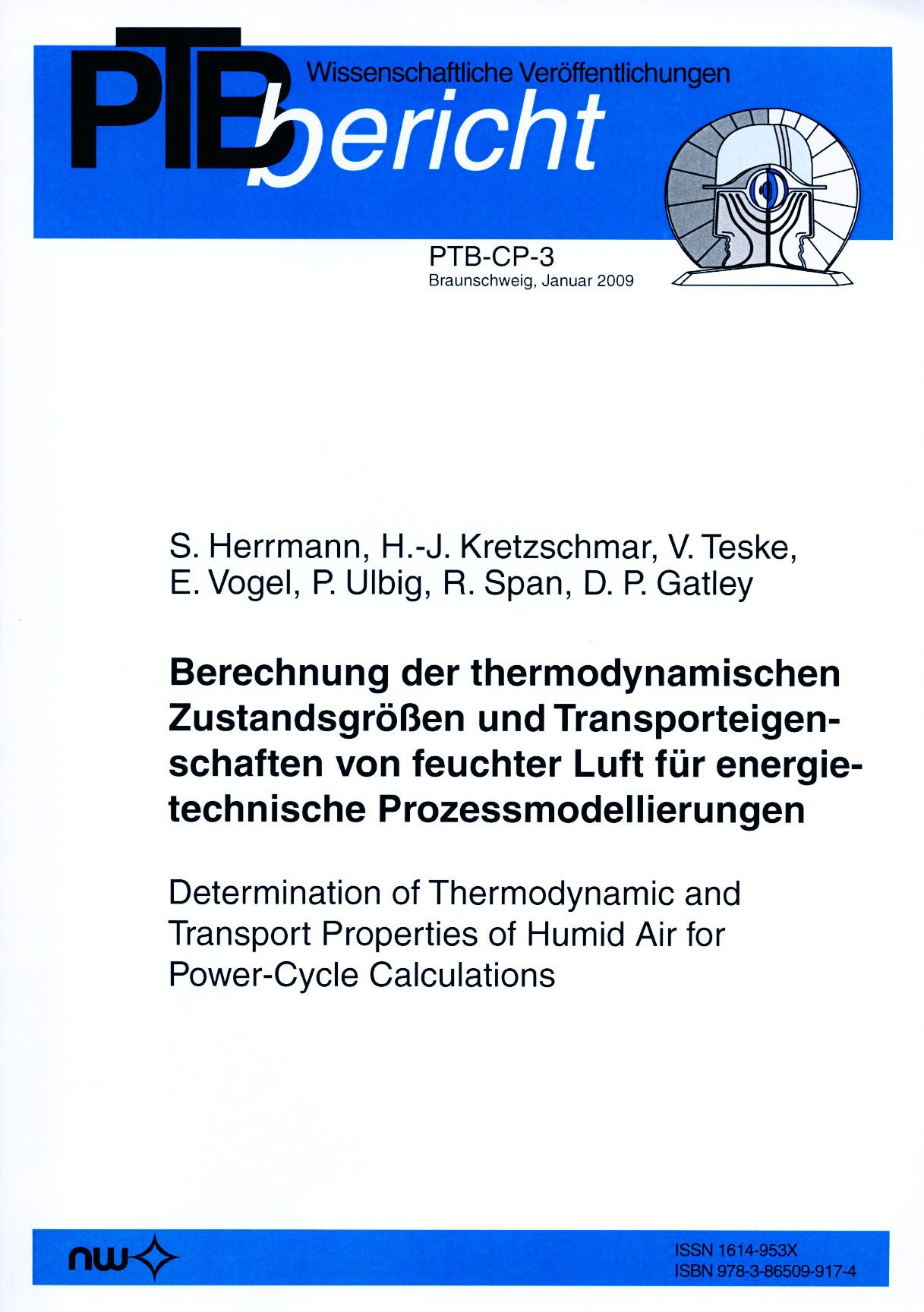 Determination of Thermodynamic and Transport Properties of Humid Air for Power-Cycle Calculations