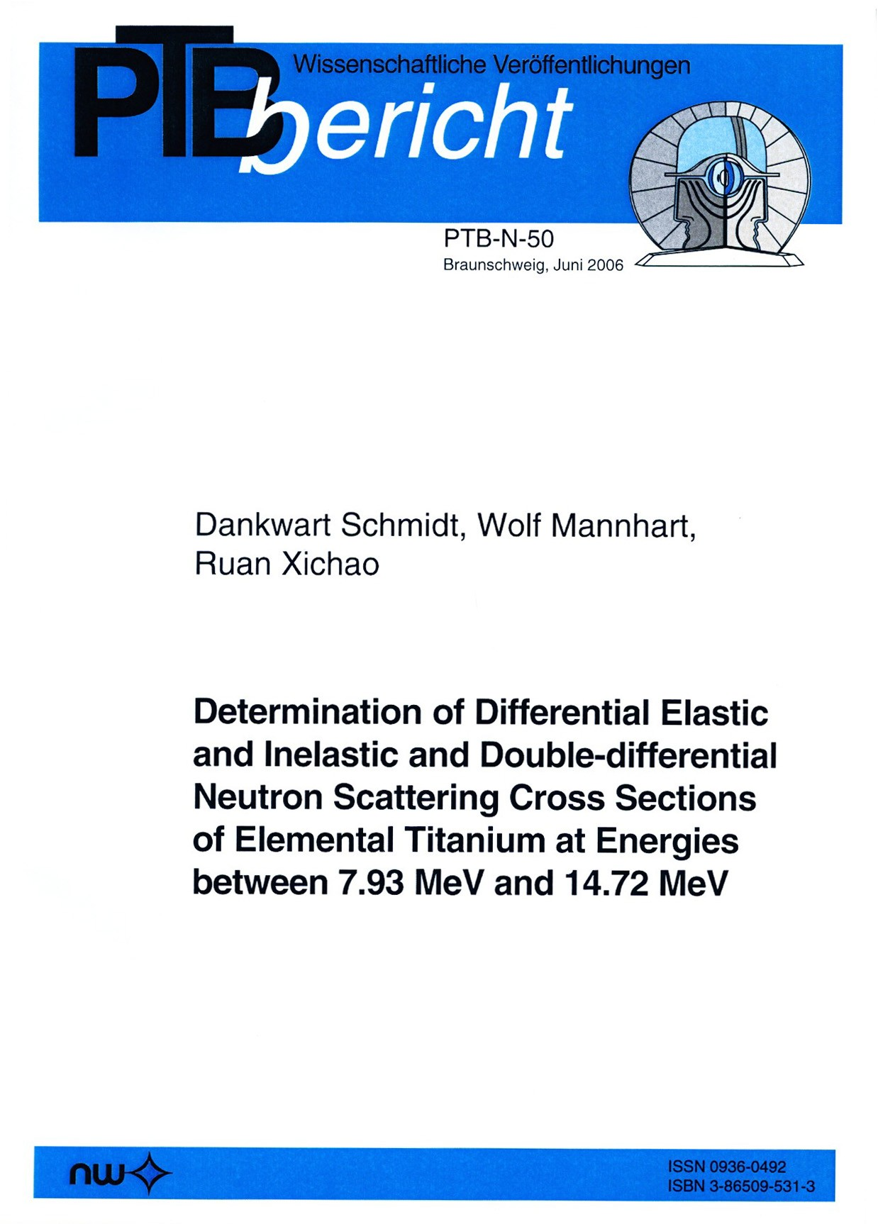 Determination of Differential Elastic and Inelastic and Double-differential Neutron Scattering Cross Sections of Elemental Titanium at Energies between 7.93 MeV and 14.72 MeV