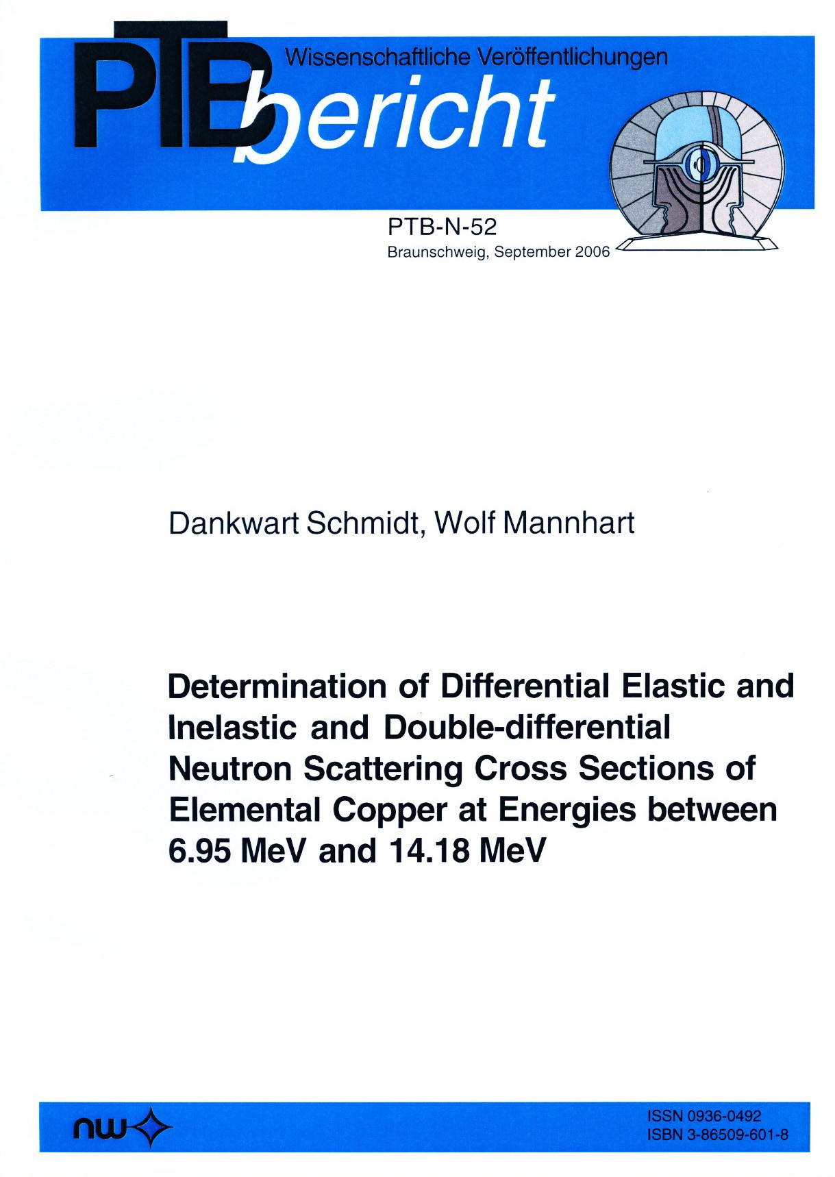 Determination of Differential Elastic and Inelastic and Double-differential Neutron Scattering Cross Sections of Elemental Copper at Energies between 6.95 MeV and 14.18 MeV